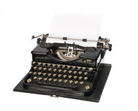 Vintage typewriter. Towards white background Royalty Free Stock Photography