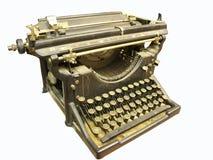 Vintage typewriter. Vintage typerwriter isolated on white royalty free stock image