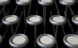 Vintage Typewriter Blank Keys Stock Photography