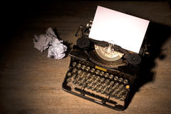 Vintage typewriter. And a blank sheet of paper Royalty Free Stock Photo
