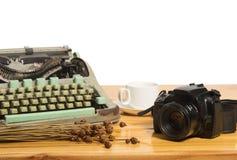 Vintage typewriter and camera Royalty Free Stock Photo