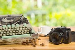 Vintage typewriter and camera Royalty Free Stock Photos