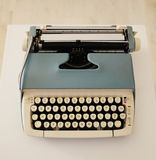 Vintage typewriter. A vintage typewriter in carry case Stock Photography
