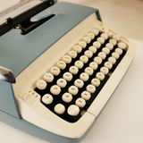 Vintage typewriter. Closeup of a vintage typewriter royalty free stock photo