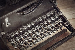 Vintage Typewriter. With closeup on keys Royalty Free Stock Image