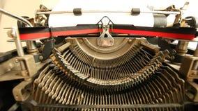 Vintage typewriter closeup stock footage