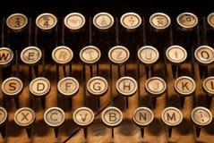 Vintage typewriter. Closeup of retro, old-fashioned typewriter keyboard Royalty Free Stock Images