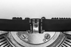 Vintage typewriter with copy space Royalty Free Stock Image