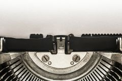 Vintage typewriter with copy space Stock Photo