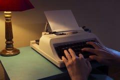 Vintage typewriter on desktop Stock Image