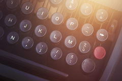 Vintage typewriter detail. Vintage typewriter keyboard close up Royalty Free Stock Image