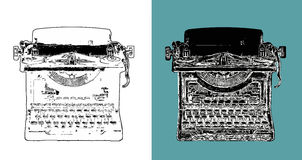 Vintage Typewriter Digital Sketch Royalty Free Stock Images