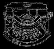 Vintage typewriter  file. Hand drawn Stock Photos