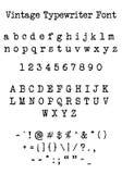 Vintage Typewriter Font Stock Image