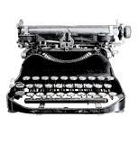 Vintage typewriter. Gravure retro style effect Stock Images
