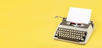 Vintage typewriter header Stock Image