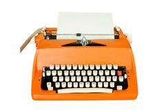 Vintage typewriter isolated stock photography