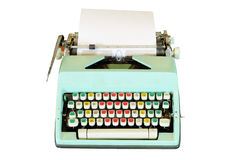 Vintage typewriter isolated Royalty Free Stock Photos