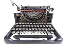 Vintage typewriter isolated over white Royalty Free Stock Photos