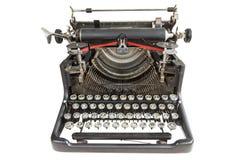 Vintage typewriter isolated over white Stock Image