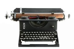 Vintage Typewriter isolated on white. Old manual typewriter with white background stock image