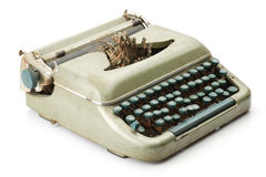 Vintage typewriter isolated on white background Stock Image