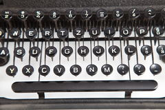 Vintage Typewriter Keyboard Stock Photo