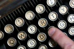 Vintage typewriter keyboard Stock Photo