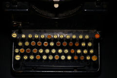 Vintage typewriter keyboard Stock Photography