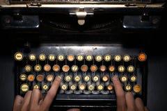 Vintage typewriter keyboard Royalty Free Stock Image