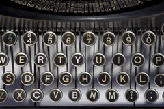 Vintage Typewriter Keyboard Stock Image