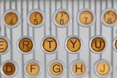 Vintage typewriter keyboared Stock Photos