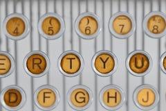 Vintage typewriter keyboared Stock Photos