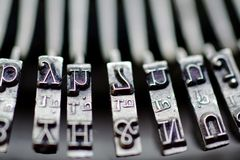 Vintage Typewriter Keys Royalty Free Stock Photos