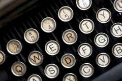 Vintage typewriter keys Stock Photos