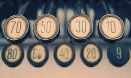 Vintage typewriter keys royalty free stock photos