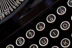 Vintage Typewriter Keys. Closeup of vintage typewriter stock image