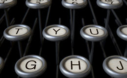 Vintage Typewriter Keys Close Up Stock Photography
