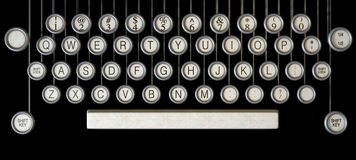 Vintage Typewriter Keys Close Up Stock Images