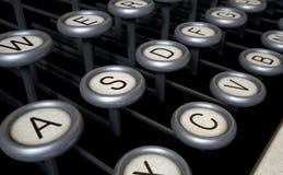 Vintage Typewriter Keys Close Up Stock Image