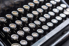 Vintage typewriter keys closeup image Stock Photography