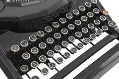Vintage Typewriter Keys Isolated on White Royalty Free Stock Photography