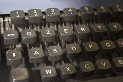 Vintage typewriter keys. Typewriter keys. The left portion of the keyboard Royalty Free Stock Photo