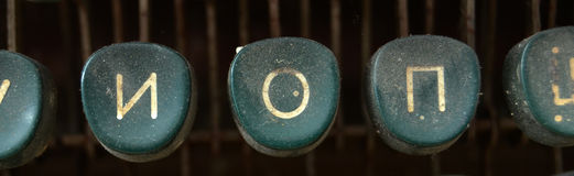 Vintage Typewriter Keys,Letters Stock Photography