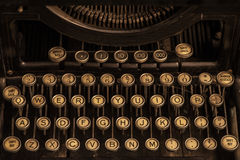 Vintage Typewriter Keys Stock Image