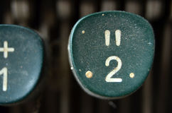 Vintage Typewriter Keys, number 2 Stock Image