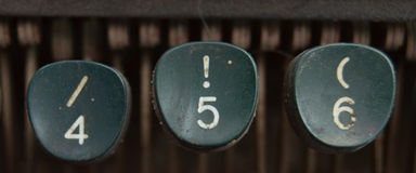 Vintage Typewriter Keys Stock Images