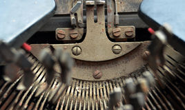 Vintage Typewriter Keys Stock Photography
