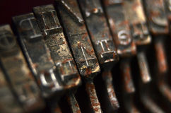 Vintage Typewriter Keys Stock Photo