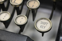 Typewriter keys Stock Images
